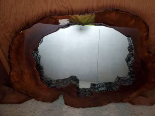 Beautiful Wood Tree Trunk Mirror