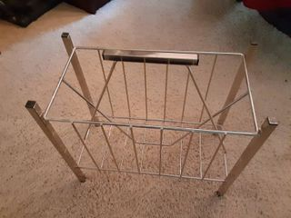 Vintage Mixed Century Magazine Rack