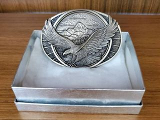Solid Brass Bald Eagle Belt Buckle