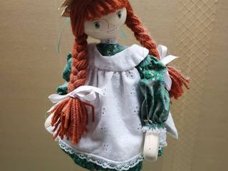 Red Head Wooden Puppet