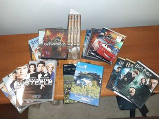 lot of Multiple DVDs Including Harry Potter  The Classic Show  Remington Steele  Indiana Jones