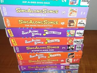 lot of Eleven VHS Disney Sing Along Tapes