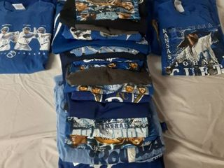 lot of 19 large Royals Shirts  2 Xl Shirts and 2 M Shirts
