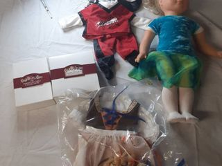 Gotz Baby Doll and Accessories And American Girl Doll