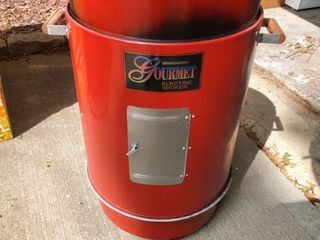 Red Brinkmam Gourmet Electric Smoker Tested and Working