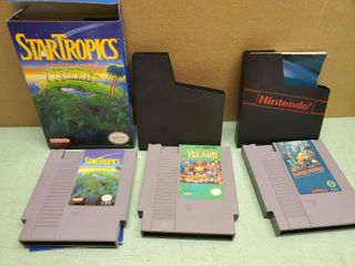 lot of 3 Adventure Nintendo Entertainment System Games  Super Pitfall  Adventure Island  Star Tropics
