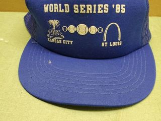 Vintage Blue Royals 1985 World Series  Poky Foam Mesh Snapback