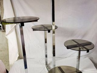 Metal 5 Tier Pedestal Display Shelf