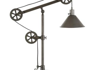Carbon loft Tirith Industrial Farmhouse Table lamp with Pulley System  Retail 108 49