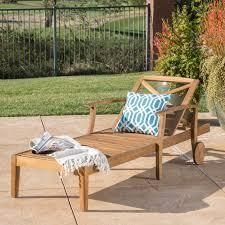 perla outdoor acaclw wood chaise only teak finish