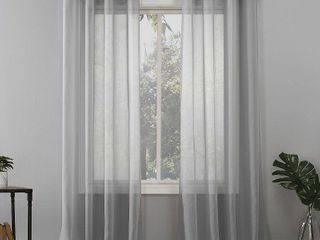 No  918 Emily Voile Sheer Grommet Curtain Panel 2 pc