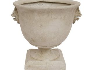 Simba Roman lionhead Accents Chalice lightweight Concrete Garden Urn Planter by Christopher Knight Home
