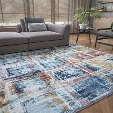 Alise Rugs Rayna Contemporary Abstract Area Rug  Retail 228 49 navy