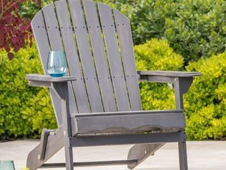 Hanlee Rustic Acacia Wood Folding Adirondack Chair by Christopher Knight Home  Retail 169 49