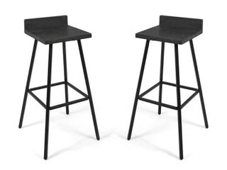 Bidwell Contemporary Indoor Acacia Wood Bar Stools  Set of 2  by Christopher Knight Home   Retail 141 00