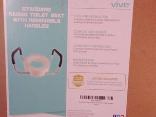 vine standard raised toilet seat with removable handles