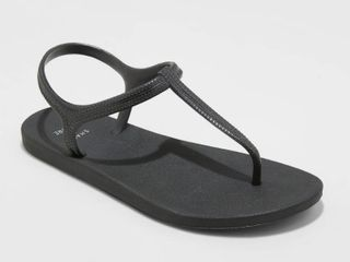 Women's Lisa Ankle Strap Flip Flops - Shade & Shore Black 7