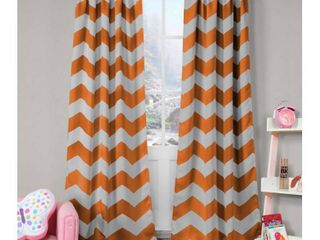 2-Pack Fifika 39 in. W x 84 in. L Polyester Window Panel in Orange