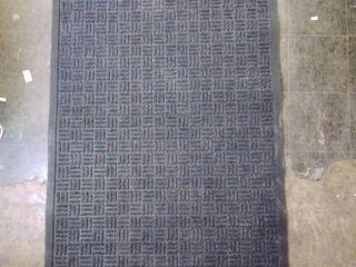Charcoal Gray berber entry carpet 36w x 59l