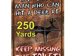River s Edge How Can A Man Tin Sign  12  x 17
