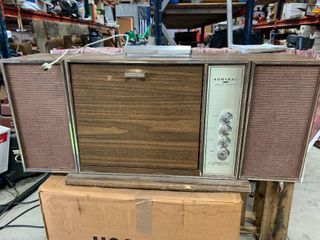 1960's Admiral Portable Suitcase Solid State Record Player