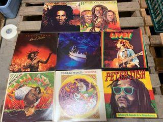 Lot of 8 Rare Raggae Record Albums