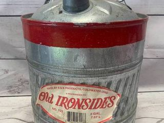 Rare Old Ironsides 2 Gallon Gas Can