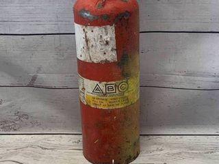 Survival Knife & Vintage Fire Extinguisher