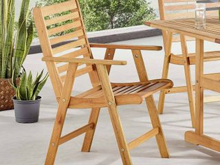 Hatteras Outdoor Patii Eucalyptus Wood Dining Chair