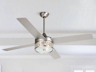 52  Satin Nickel 4 Blades Ceiling Fan