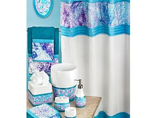Popular Bath Tami 3 Piece Towel Set  Aqua