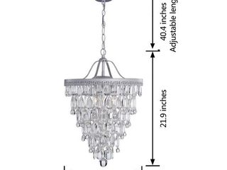 Silver Orchid Taylor Conical 4 light Crystal Chandelier