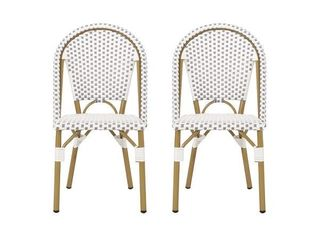 Elize Outdoor French Bistro Chair   Set of 2