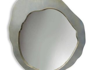 Harp   Finial Miller 36 inch Plain Beveled Glass Mirror   Plated Silver Metal Frame Retail 263 49