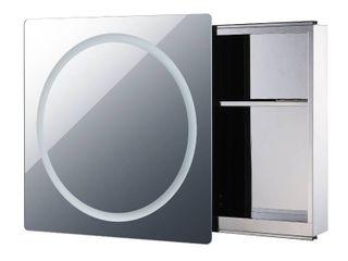 Vertical lED Illuminated Sliding Mirror