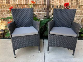 Pestana Resin Wicker Armchairs   Set of 2