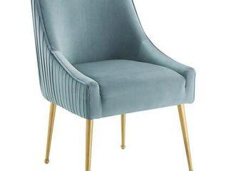 Pleated Back Upholstered Performance Velvet Dining Chair
