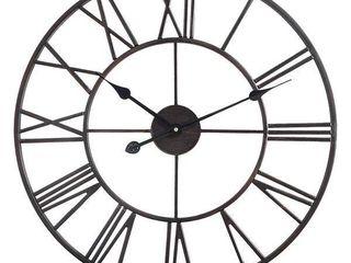 The Gray Barn Grey Round Roman Wall Clock