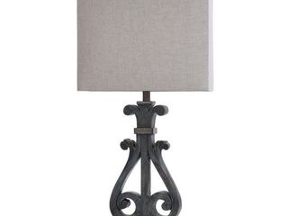 StyleCraft Brampton Distresees Blue Poly Table lamp