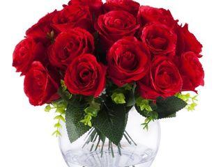 Enova Home 18 Heads Silk Rose Flowers