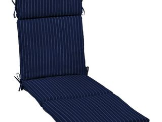 Arden Selections Navy Woven Stripe Outdoor Cushion