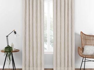 Eclipse Nora Geo Embroidery Absolute Blackout Curtain Single Panel