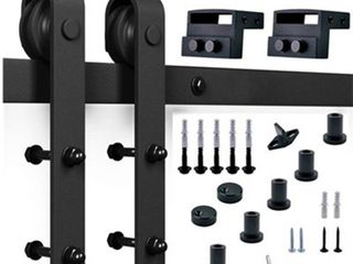 Standard Black Sliding Barn Door Track   Hardware