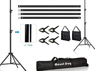 10  Adjustable Photography Video Background Support Stand Kit w Carry Bag