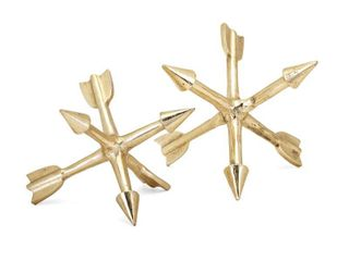 IMAX Adela Arrow Aluminum Sculptures   Set of 2   Gold