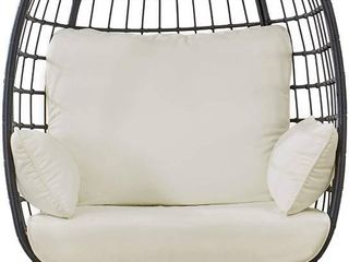 Sunjoy Swivel Egg Cuddle Chair w  Cushions