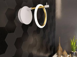 Glow s Avenue 1 light loop Ring Wall Sconce