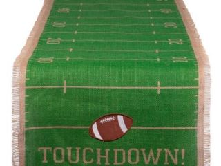 14  DII Touchdown Print Jute Table Runner