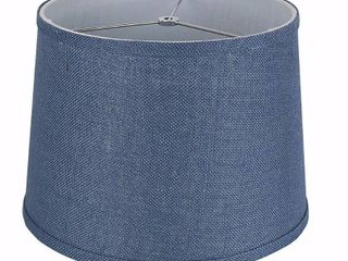 French Drum Burlap lampshade  12  to 16  Bottom Size
