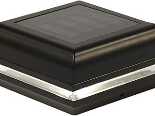 Classy Caps 5  x 5  Black Aluminum High Performance Solar Post Caps Set of 2